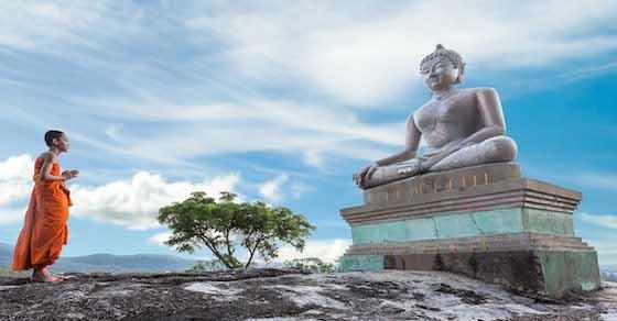Aufenthalt im buddhistischen Tempel, buddhistisches Kloster